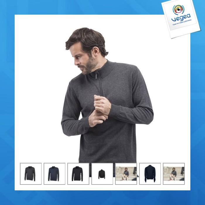 f248732ec70 Pull col zippé - quarter zip jumper personnalisable (00016V0084580 ...