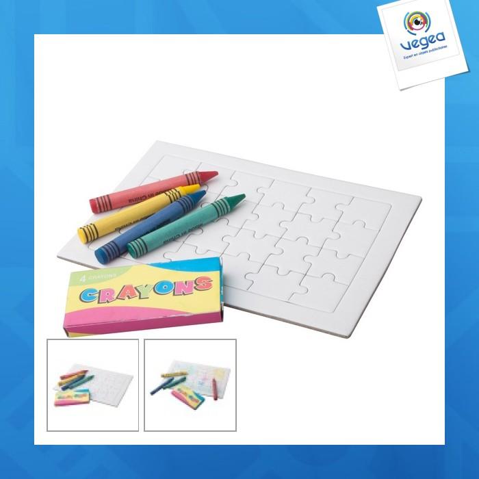 Puzzle logoté à colorier