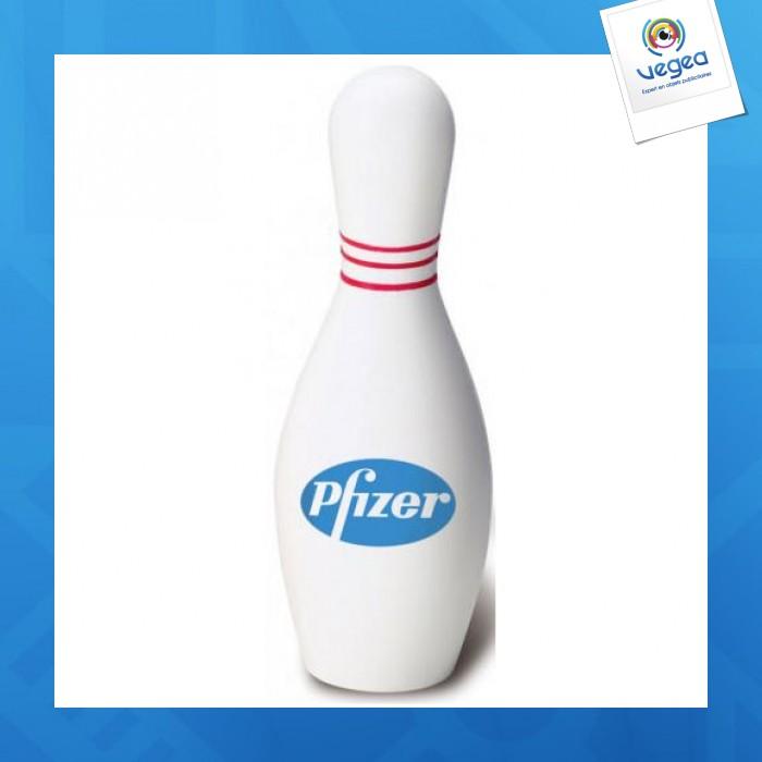 Quille de bowling personnalisable 01377v0040699 partir de 0 89 euros ht - Objet anti stress bureau ...