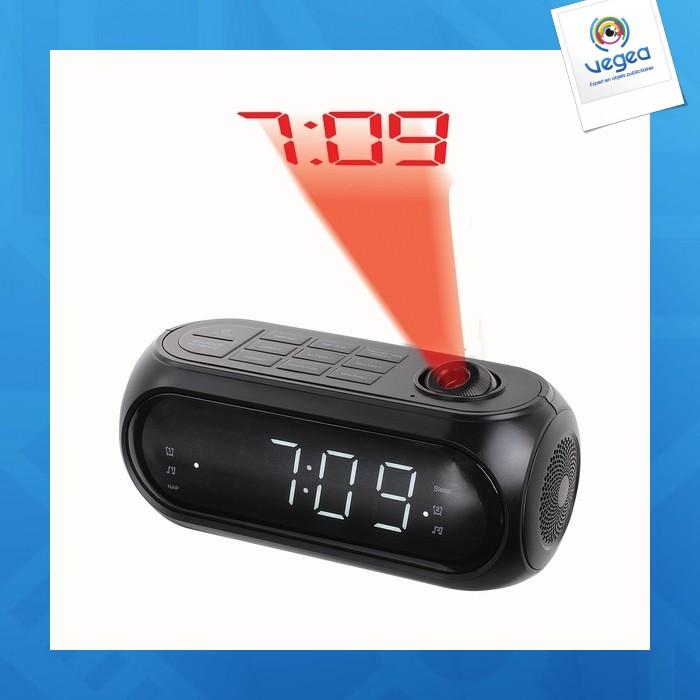 Radio-réveil personnalisable fm pll projecteur