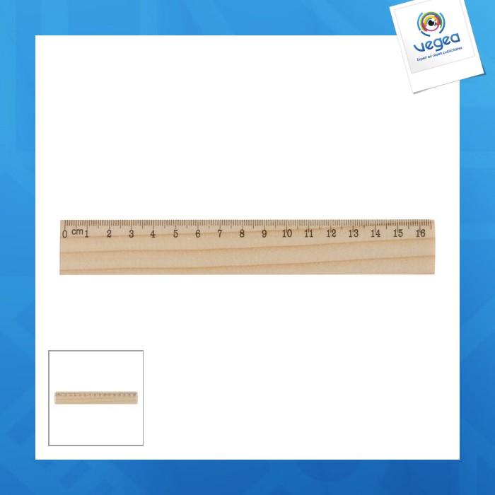 Règle personnalisable en bois 16cm