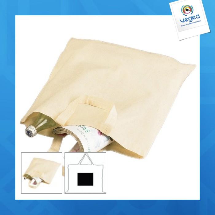 Sac coton personnalisable léger anses courtes