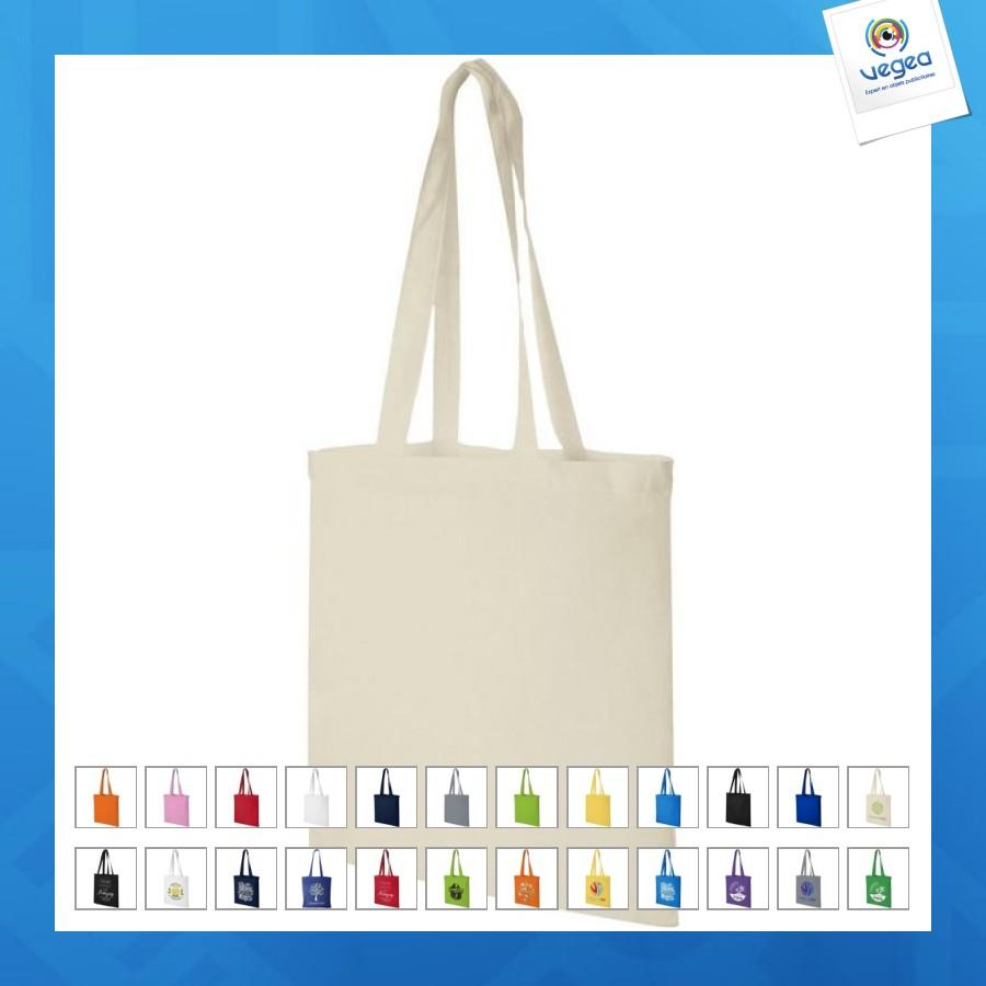 Sac shopping coton - tote bag avec logo  classique