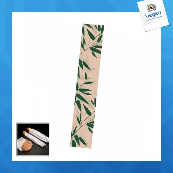 Sachet baguette logoté 12x66cm (le mille)