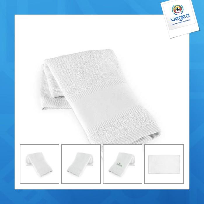 Serviette de sport personnalisée blanche 430 g/m2 - 30 x 50 cm