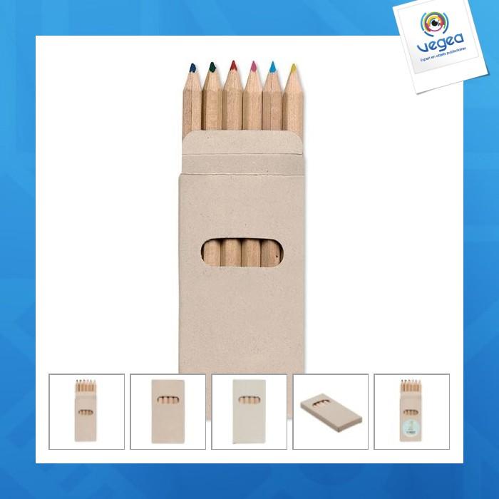 Set 6 crayons de couleur personnalisables
