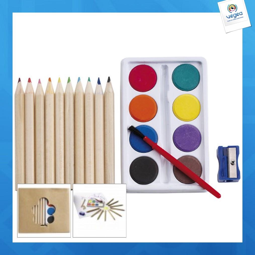 Set à dessin crayons et peinture