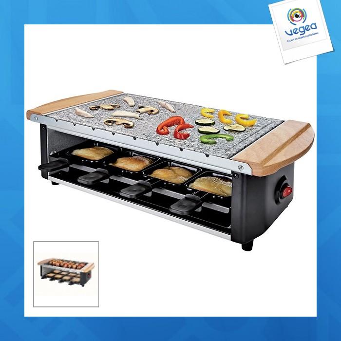 Set à raclette/pierre à grill/brochette domo clip