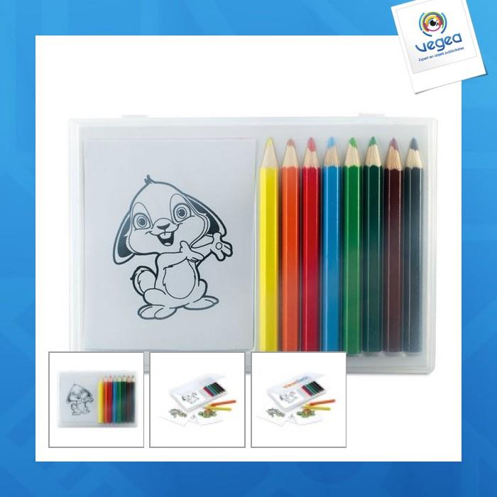 Set crayons de couleur personnalisables en bois