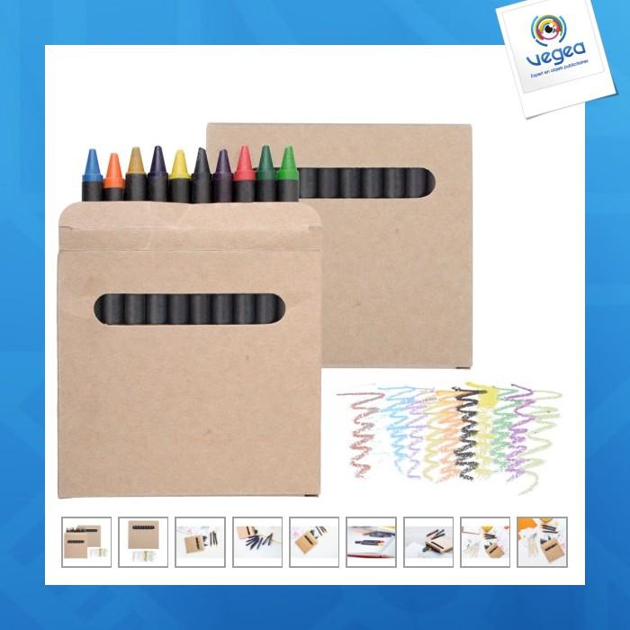Set de 12 pastels de couleurs
