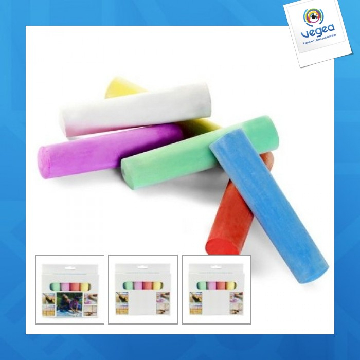 Set de 6 craies logotées de couleur