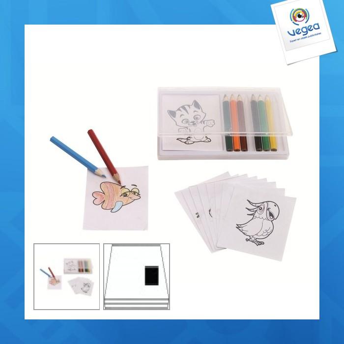 Set de coloriage personnalisé  crazy animals