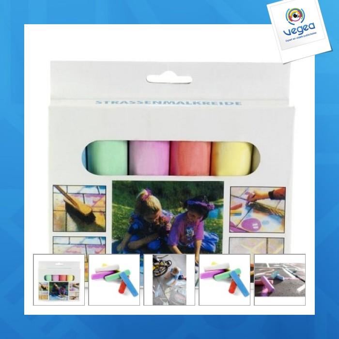 Set of 6 coloured chalks