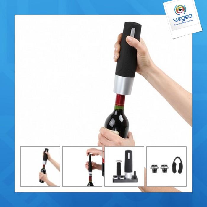 Set tire-bouchon électrique publicitaire et pompe