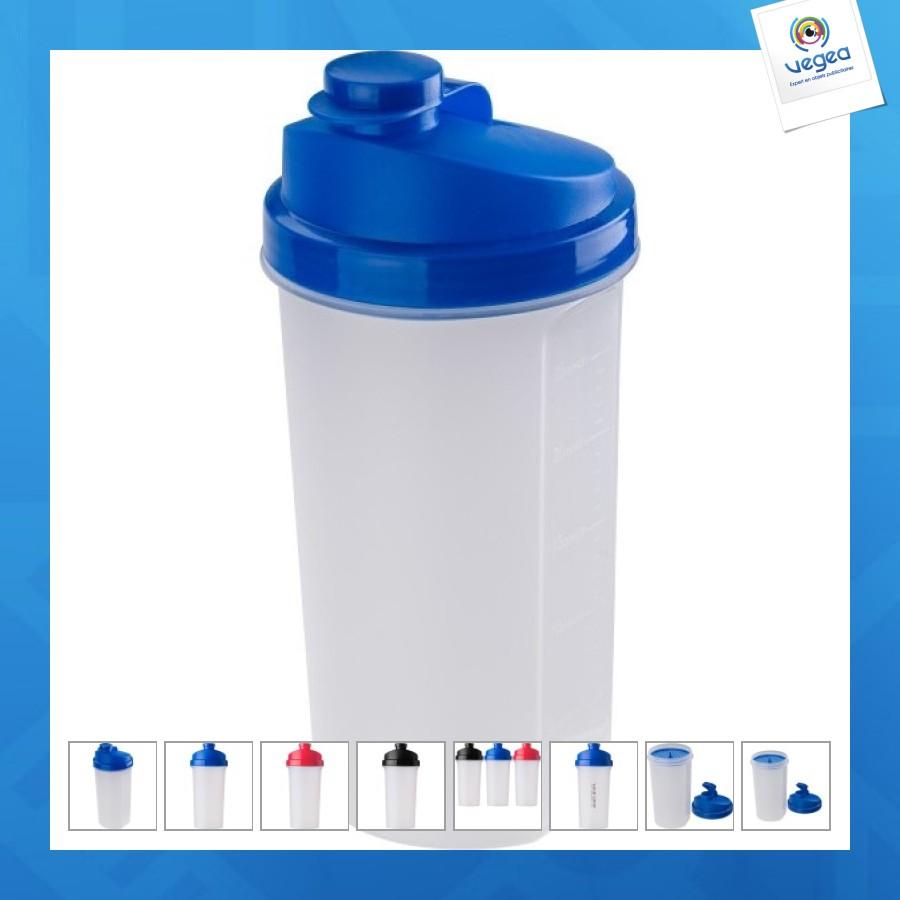 Shaker avec logo  gradué en plastique