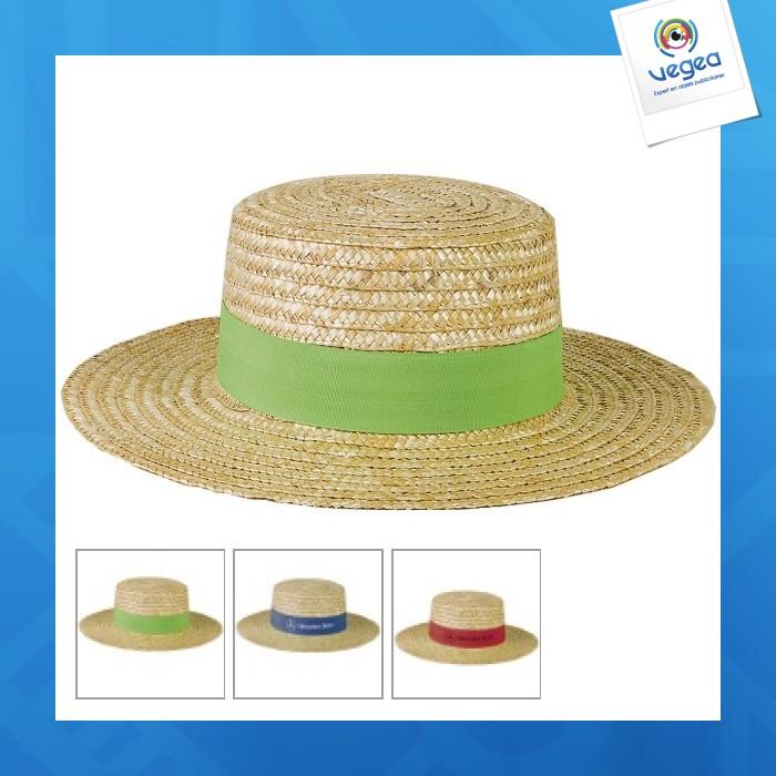 Sombrero de paja personalizable para navegantes