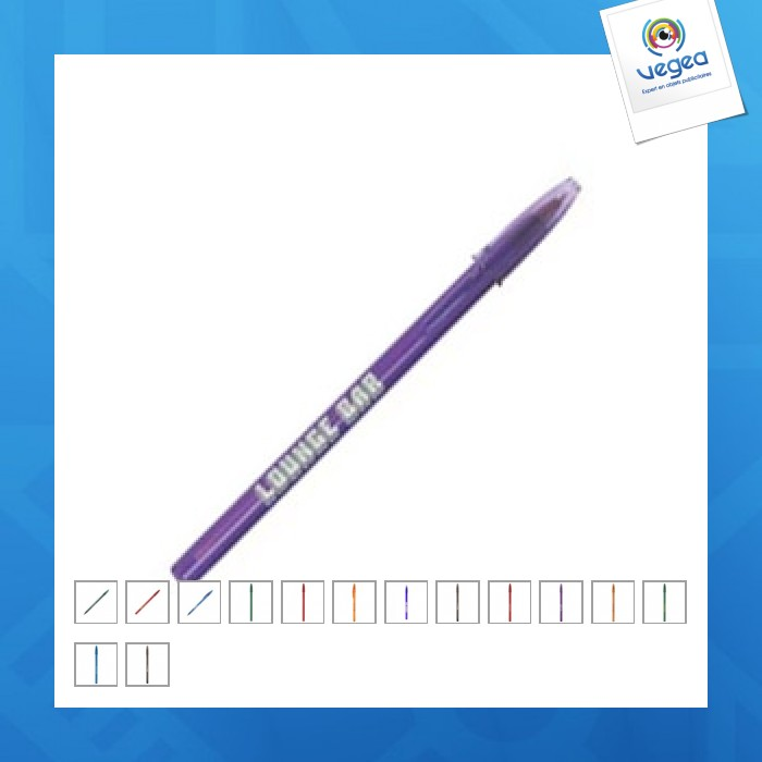 Stylo-bille style clear bic