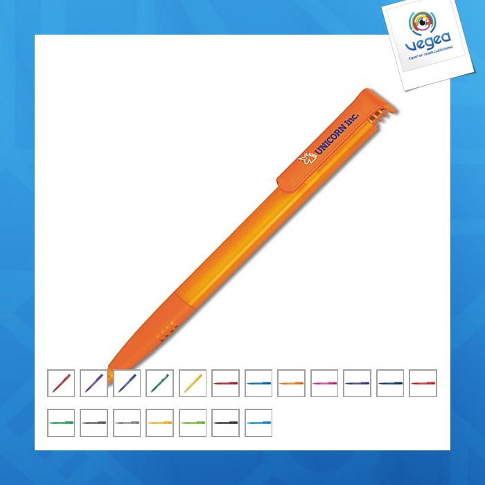 Stylo-bille avec logo  super-soft clear