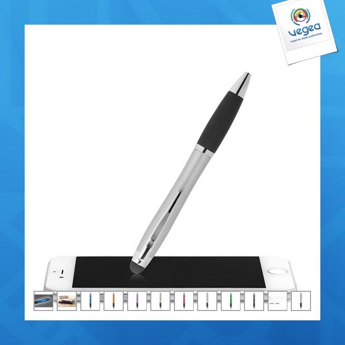 Stylo stylet publicitaire marquage lumineux