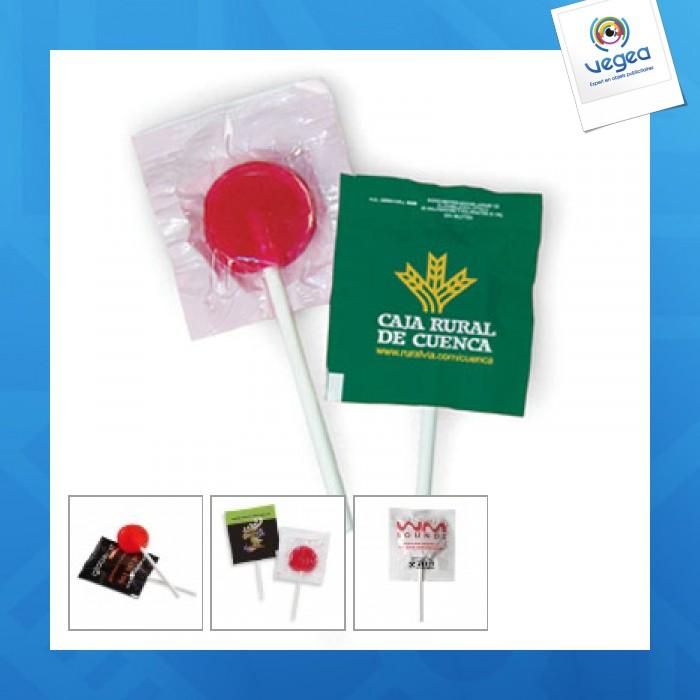 Sucette publicitaire personnalisée  plate lollipop 6g