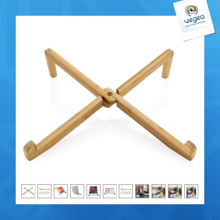 Support ordinateur portable en bambou