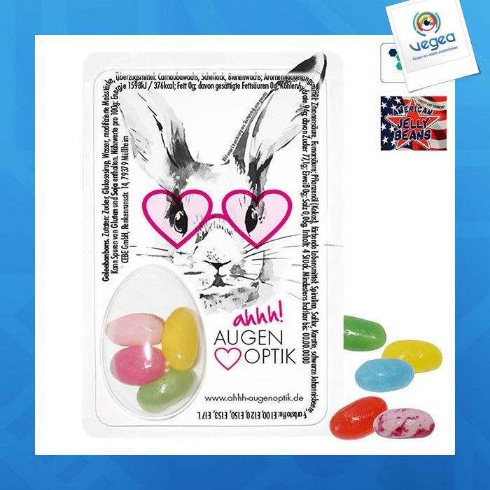 Sweet card avec american jelly beans