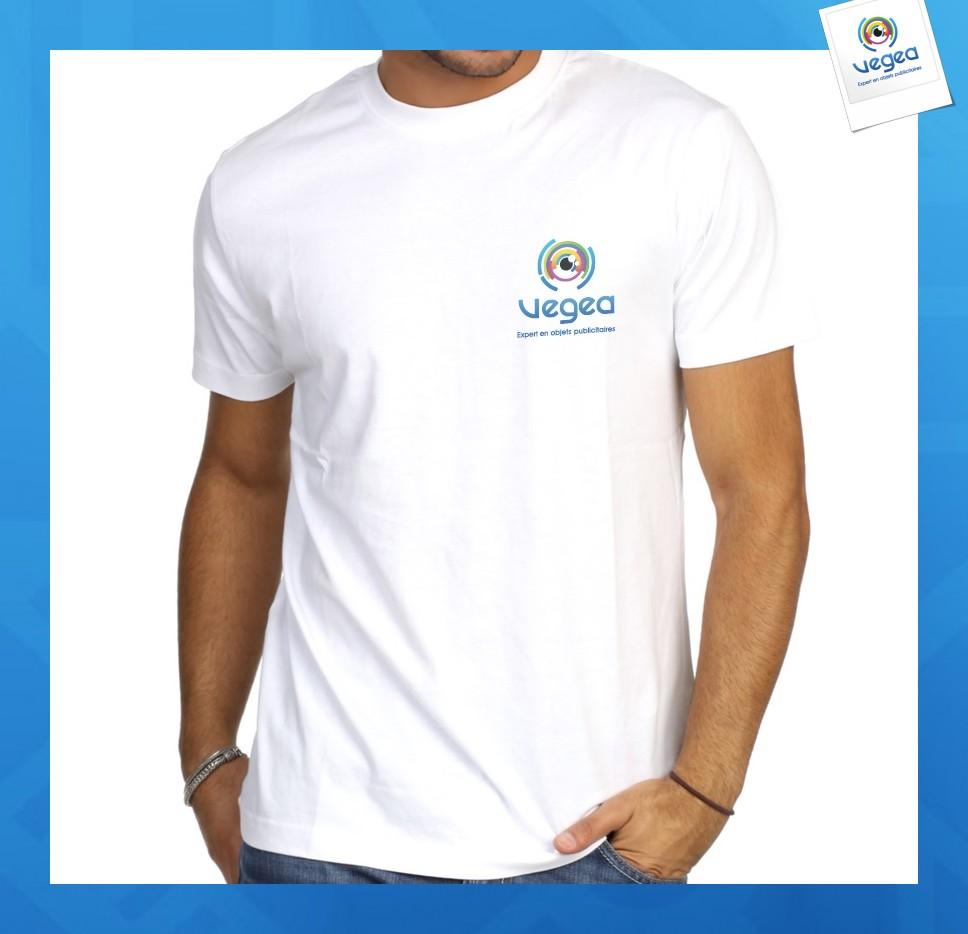 T-shirt blanc 190g express 48h