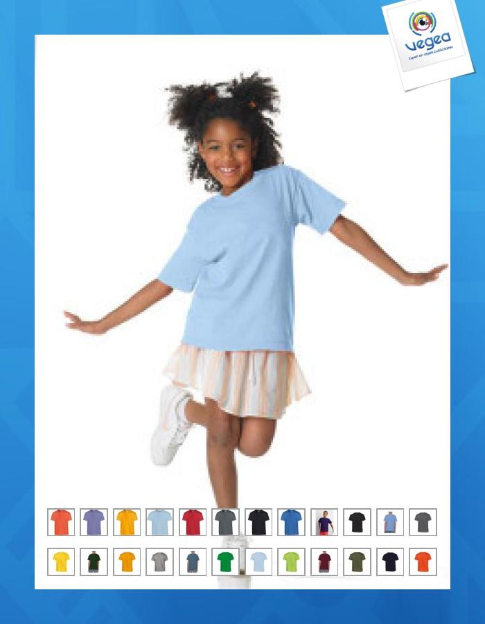 T-shirt enfant gildan couleurs