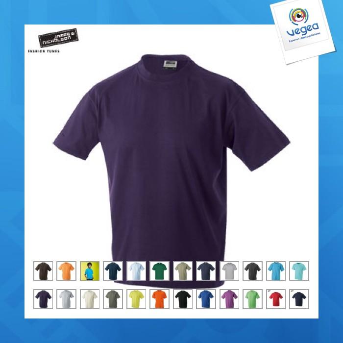 2d2a68a24 T-shirt junior basic couleur