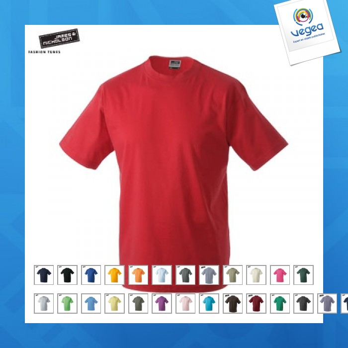 T-shirt junior basic couleur