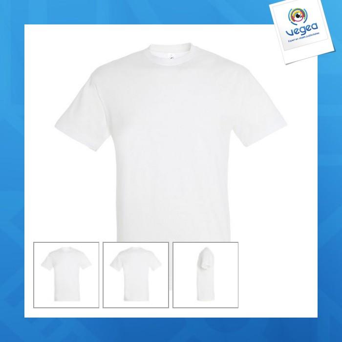 T-shirt logoté blanc 150g regent