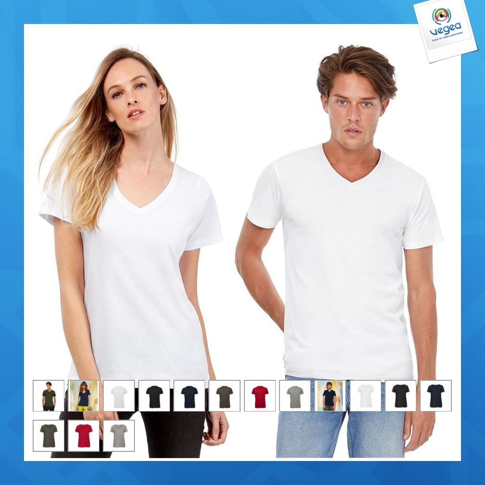 T-shirt v en coton bio inspire