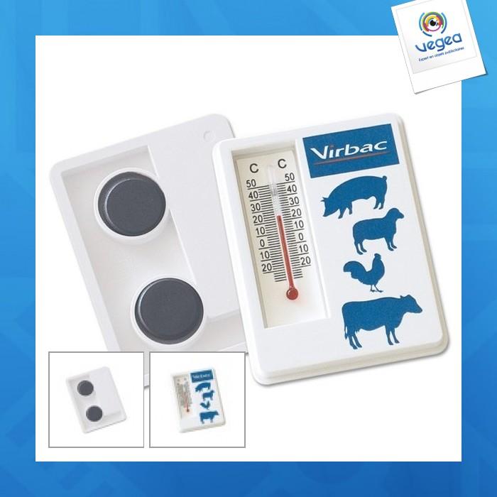 Thermomètre avec support magnétique