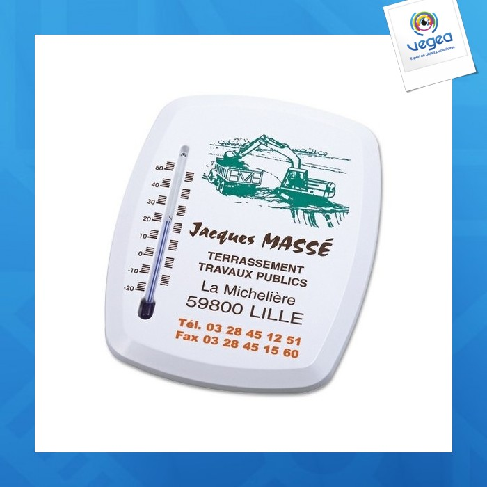 Thermomètre ovalisé