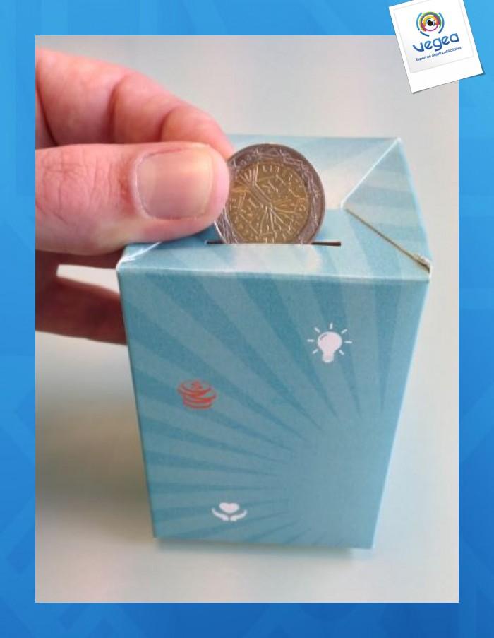 Tirelire personnalisable en carton