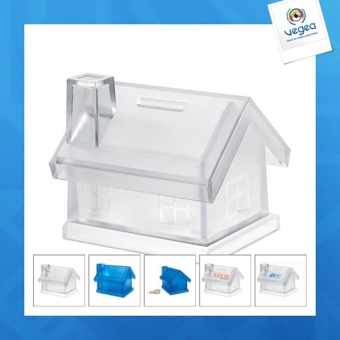 Tirelire publicitaire maison plastique