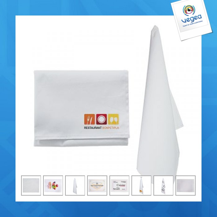 Torchon blanc personnalisable  en coton