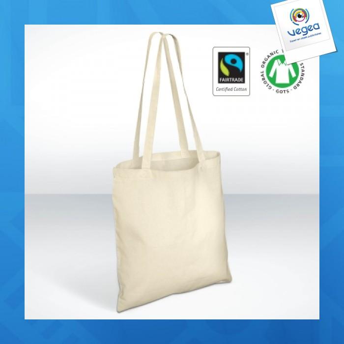 Tote bag publicitaire  coton 100% biologique et équitable fairtrade