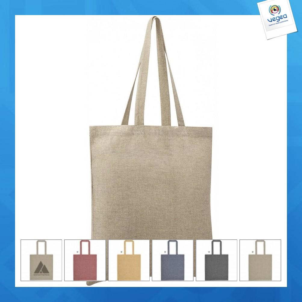 Tote bag personnalisable coton recyclé 150g vegas