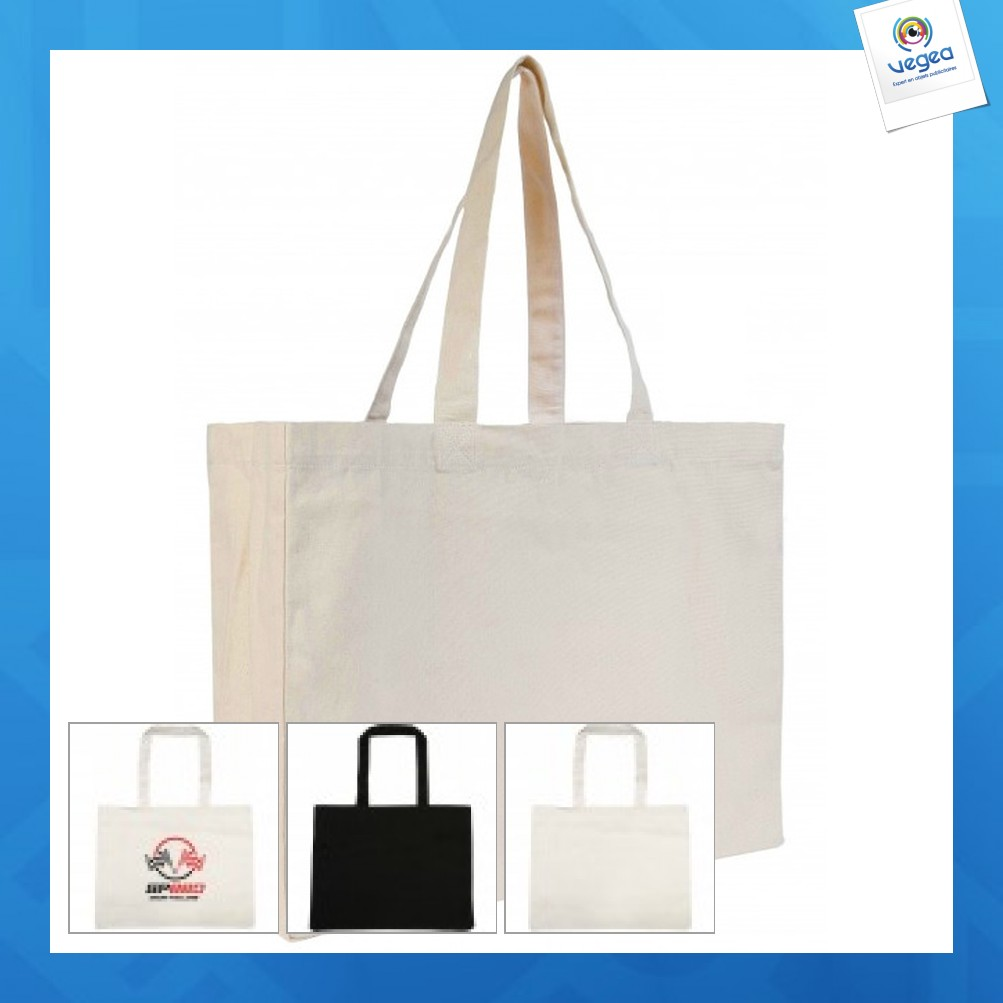 Tote bag personnalisable grand format à soufflet malibu