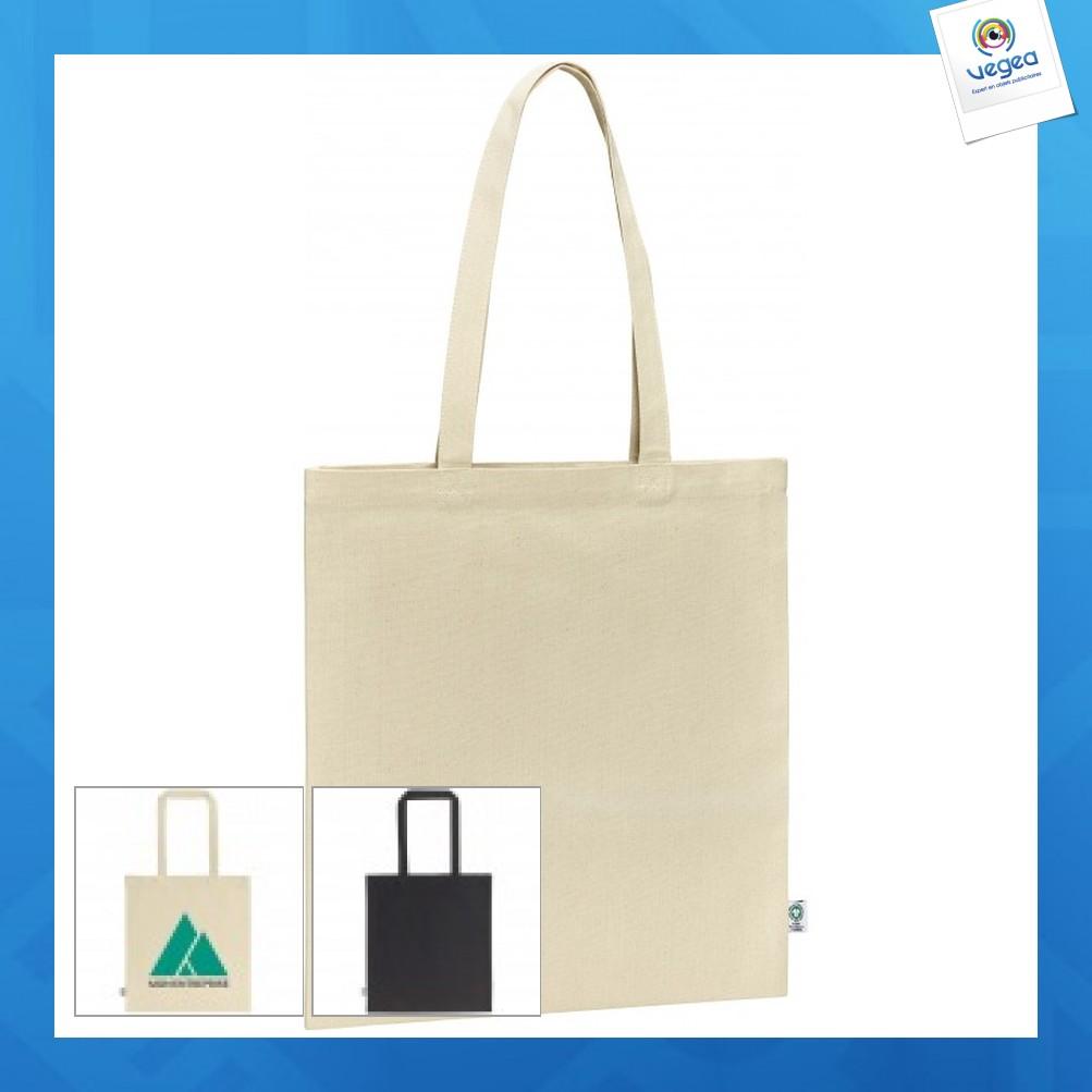 Tote bag personnalisable premium en coton bio 300g grace