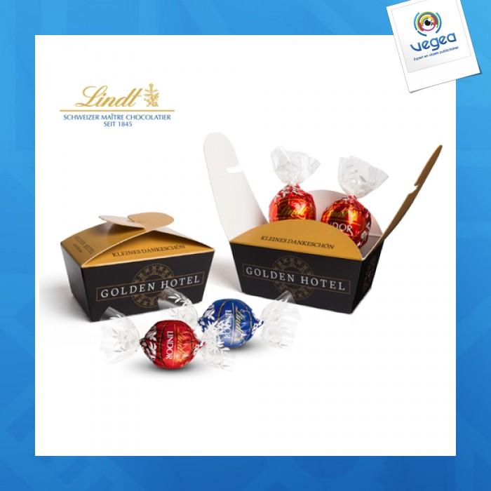 Truffes chocolat lindor ballotin