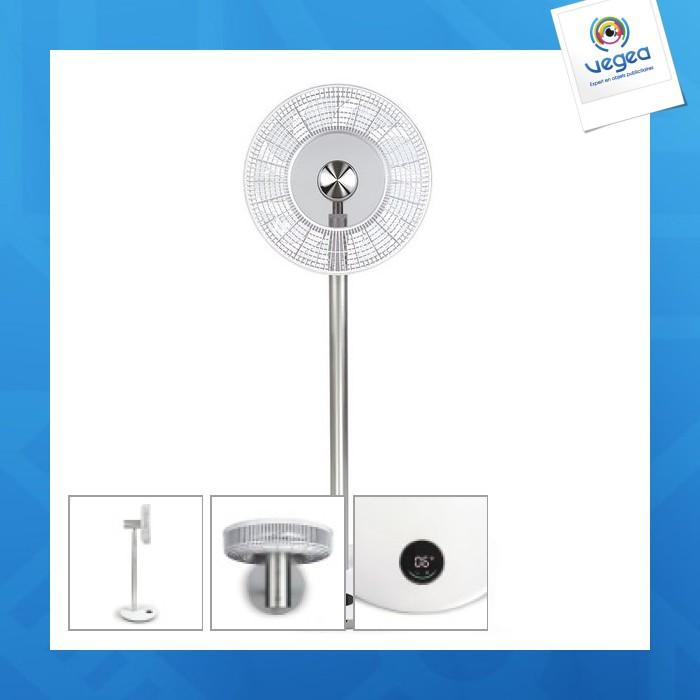 Ventilateur logoté sur pied sans fil