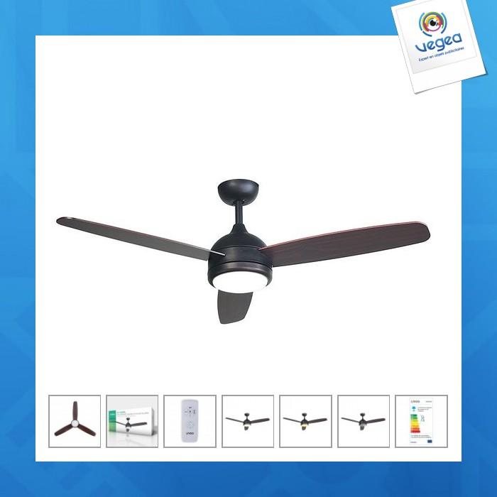 Ventilateur personnalisable de plafond avec lampe