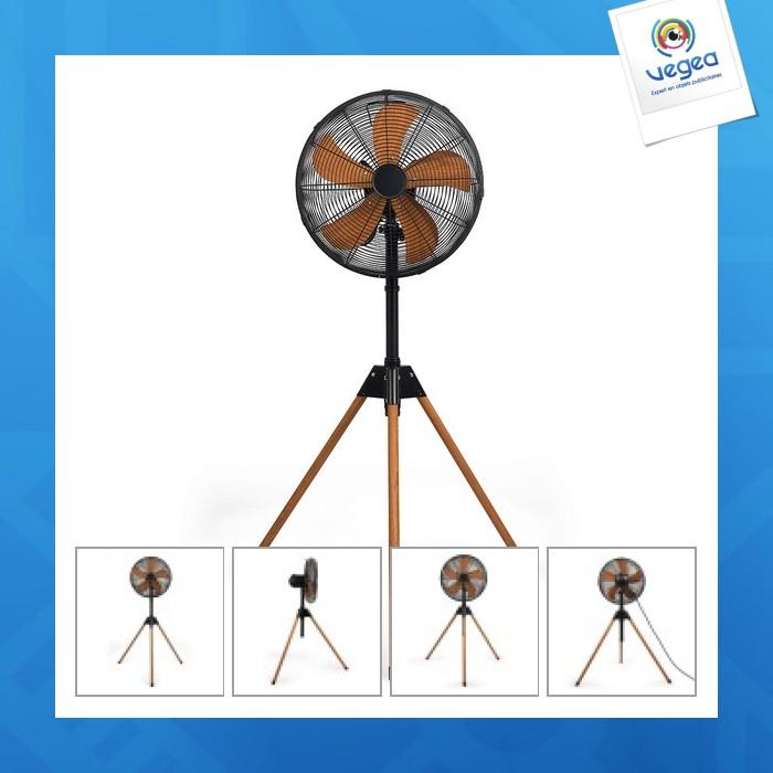 Ventilateur personnalisable trépied 40cm diam.