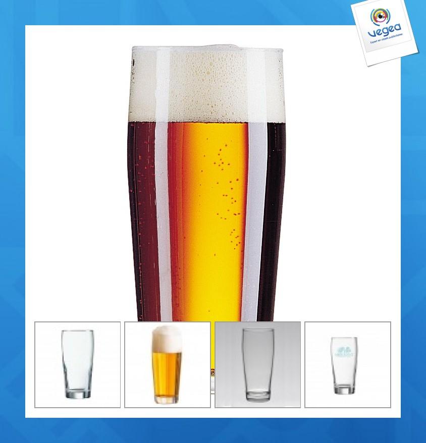 Verre personnalisé  à bière (demi) willi becher