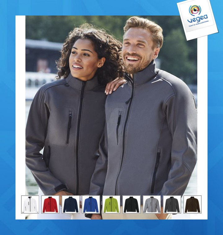 Veste homme zippée softshell personnalisable sol's - relax - 46600 softshell