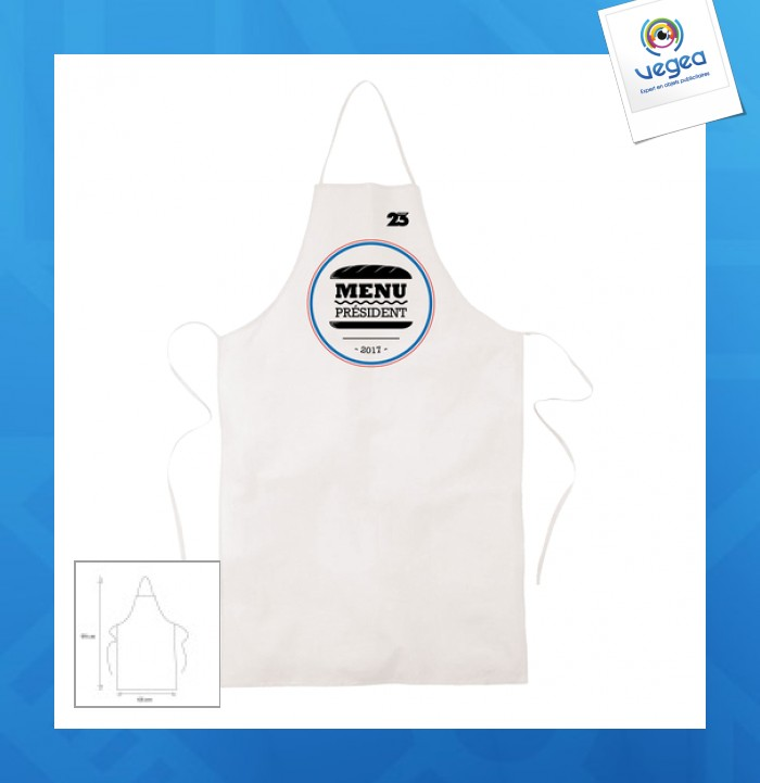 White cotton apron 155g express 48h