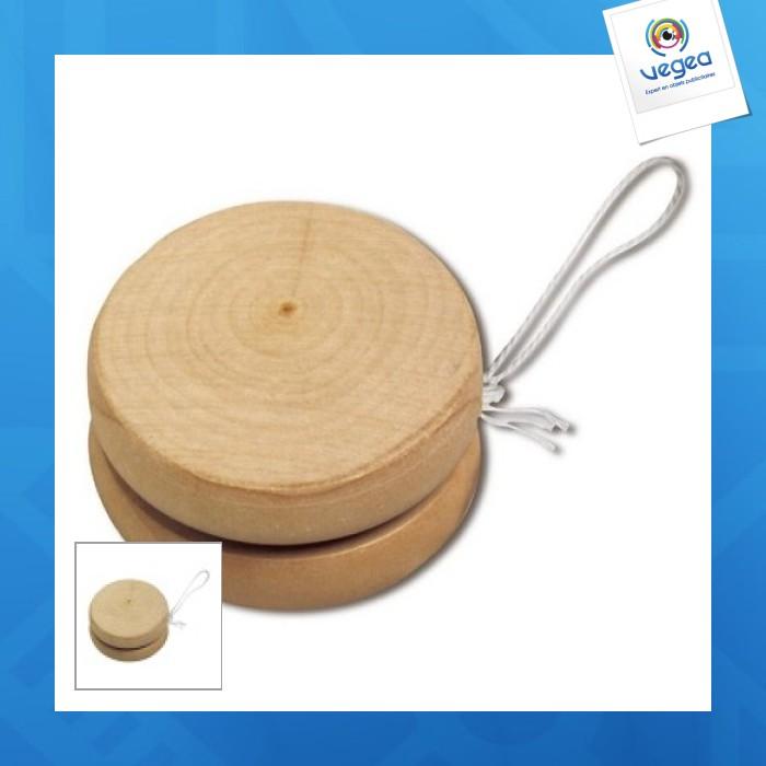 Yoyo avec personnalisation  en bois, grand modèle